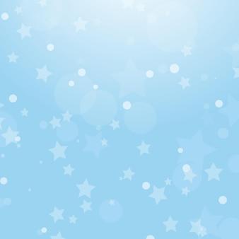 Fundo abstrato colorido de natal com círculos e estrelas de tamanhos diferentes