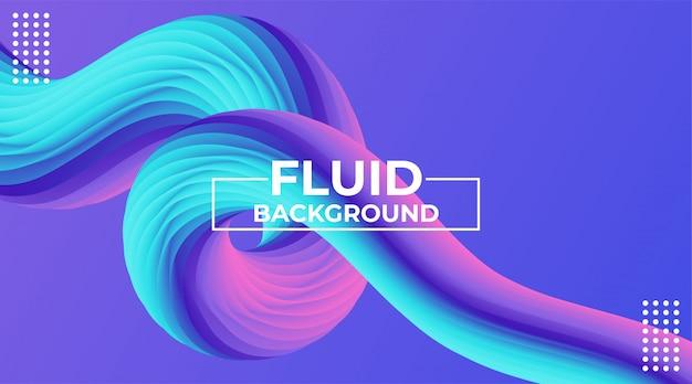 Fundo abstrato colorido dinâmico moderno efeito de fluxo 3d