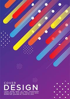 Fundo abstrato colorido gradiente de forma geométrica para capa e papel de parede. desenho vetorial geométrico moderno