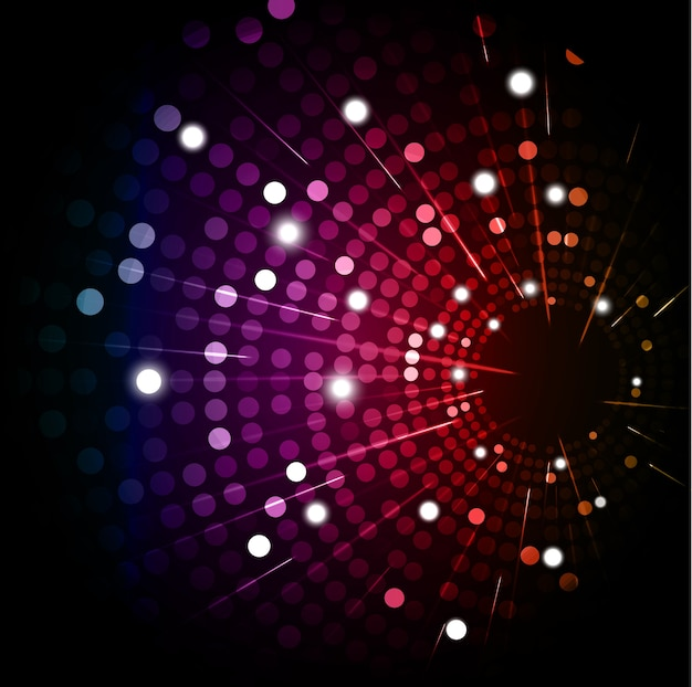 Fundo abstrato colorido lâmpada de discoteca arredondada