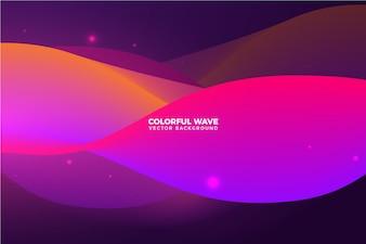 Fundo abstrato colorido onda