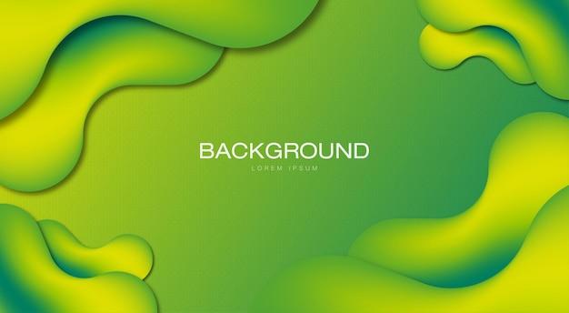 Fundo abstrato colorido verde com novas formas melhor vetor premium