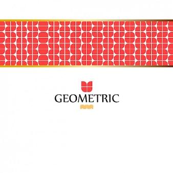 Fundo abstrato com banda geométrica