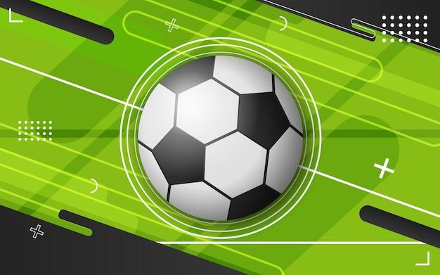 Fundo abstrato com bola de futebol