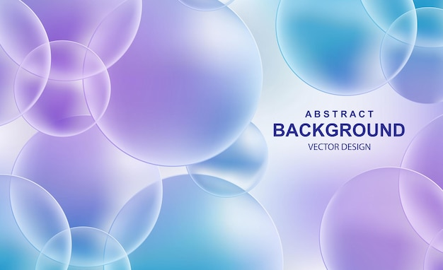 Fundo abstrato com bolas realistas caindo, bolhas brilhantes e dinâmicas