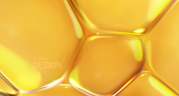 Fundo abstrato com bolhas macias transparentes amarelas