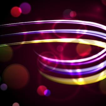 Fundo abstrato com borradas das luzes de néon