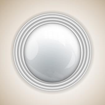 Fundo abstrato com botão redondo para design