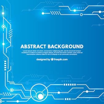 Fundo abstrato com circuitos tecnológicos
