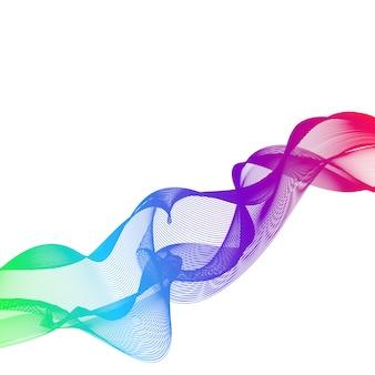 Fundo abstrato com cor cheia de linhas onduladas
