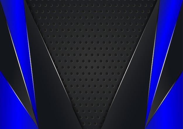 Fundo abstrato com cor preta e azul