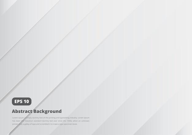 Fundo abstrato com curva de cor gradiente branco e cinza