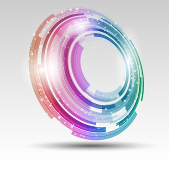 Fundo abstrato com desenho circular