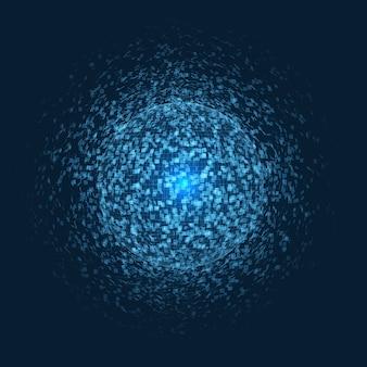 Fundo abstrato com desenho de esfera explosiva