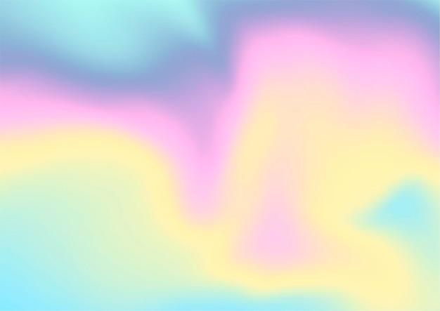 Fundo abstrato com desenho de holograma iridescente