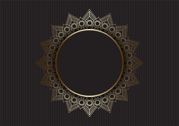 Fundo abstrato com desenho de mandala de ouro de luxo