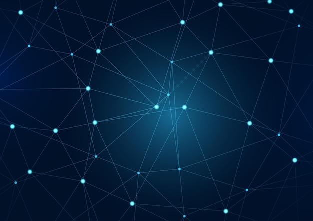Fundo abstrato com design de comunicações de rede