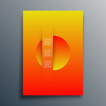 Fundo abstrato com design de formas de textura gradiente para capa