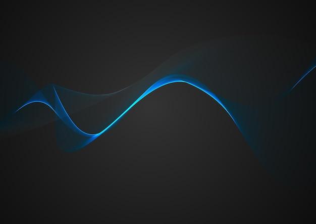 Fundo abstrato com design de linhas fluidas azuis