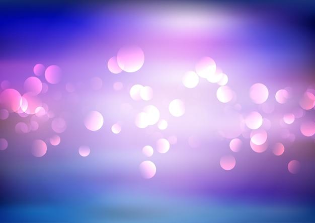 Fundo abstrato com design de luzes bokeh