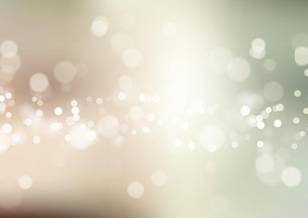 Fundo abstrato com design de luzes de bokeh em tons pastel
