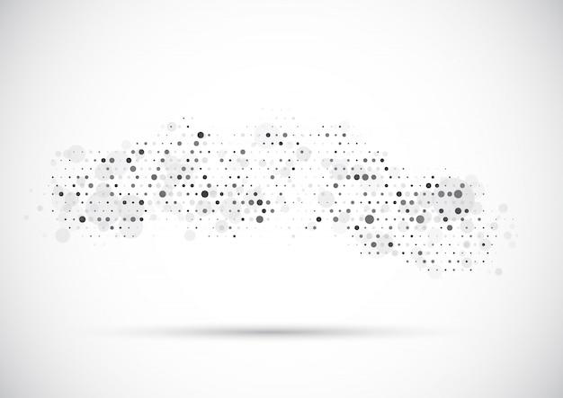Fundo abstrato com design de pontos