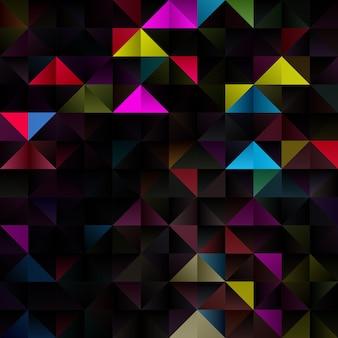 Fundo abstrato com design temático geométrico de baixo poli