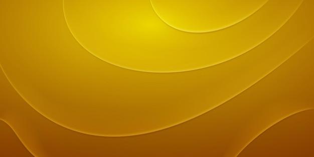 Fundo abstrato com dobras onduladas em cores amarelas