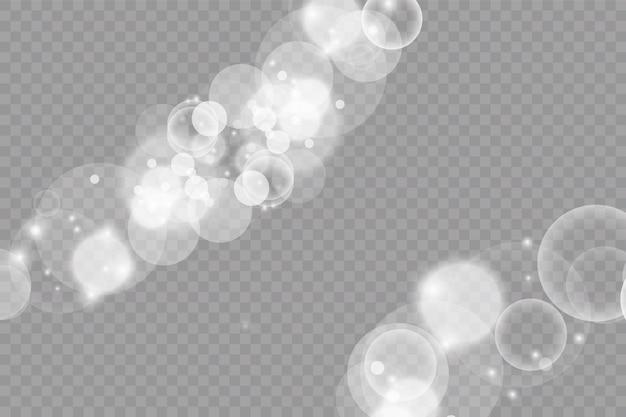 Fundo abstrato com efeito bokeh. luz das estrelas.