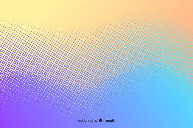Fundo abstrato com efeito de meio-tom gradiente