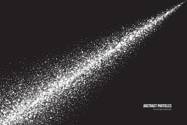 Fundo abstrato com efeito de spray de partículas brilhantes branco brilhante cintilante