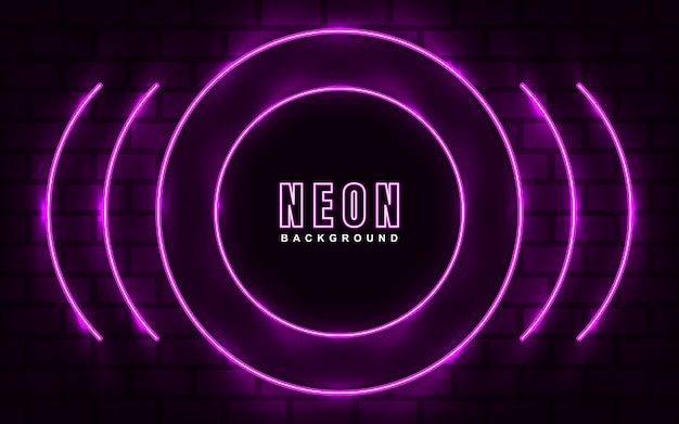 Fundo abstrato com efeito neon rosa claro