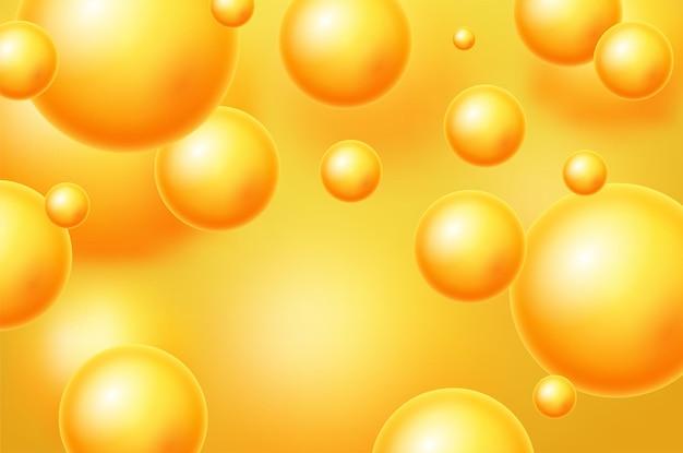 Fundo abstrato com esferas 3d dinâmicas