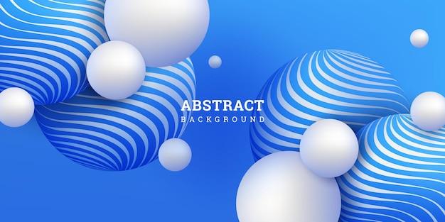 Fundo abstrato com esferas 3d