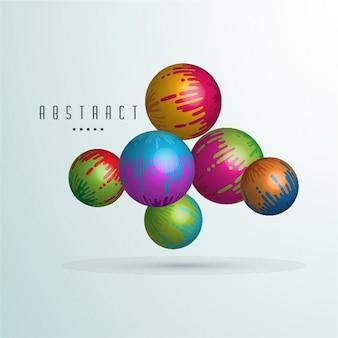 Fundo abstrato com esferas coloridas