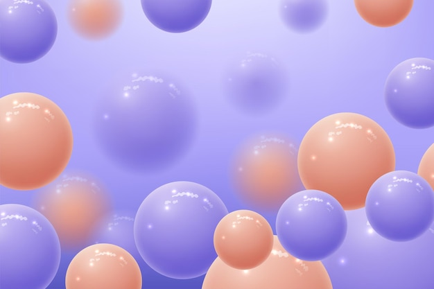 Fundo abstrato com esferas
