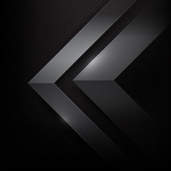 Fundo abstrato com fibra de carbono escura e preta