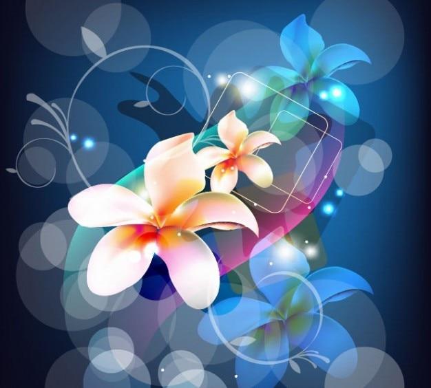 Fundo abstrato com flores arte vetorial