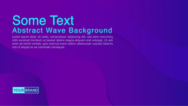 Fundo abstrato com forma de onda de água na cor roxa