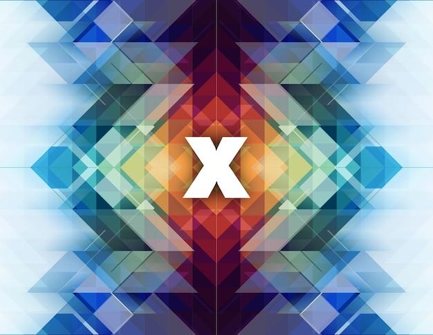 Fundo abstrato com forma de x