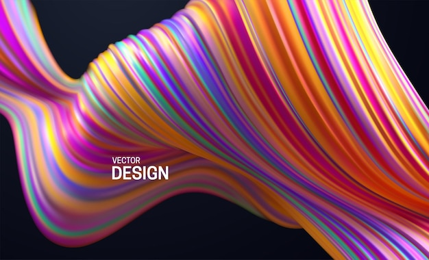 Fundo abstrato com forma listrada multicolorida