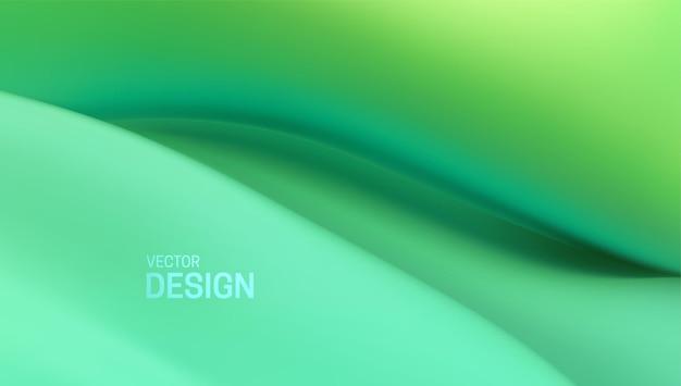 Fundo abstrato com forma viscosa verde suave