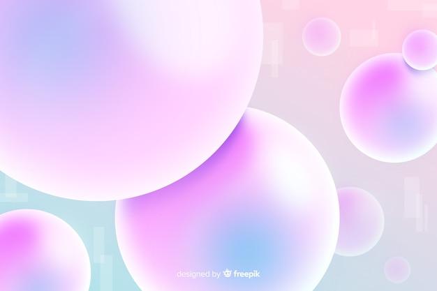 Fundo abstrato com formas 3d
