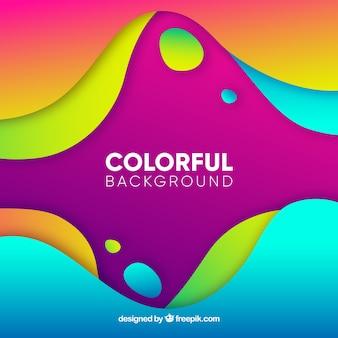 Fundo abstrato com formas arredondadas coloridas