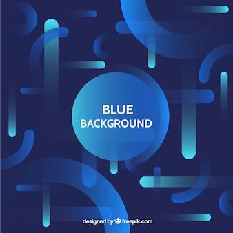 Fundo abstrato com formas azuis