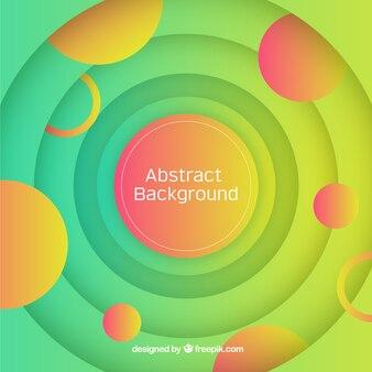 Fundo abstrato com formas circulares