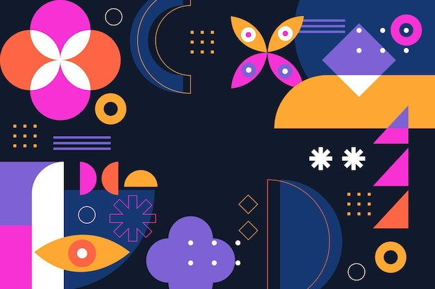 Fundo abstrato com formas coloridas