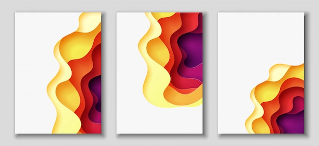 Fundo abstrato com formas de corte de papel