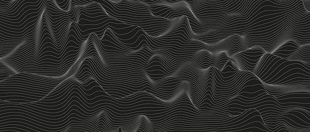 Fundo abstrato com formas de linhas distorcidas