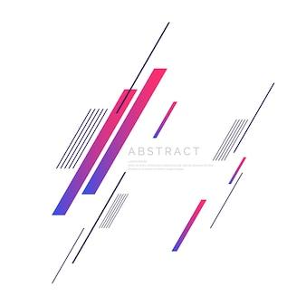 Fundo abstrato com formas dinâmicas. molde do vetor para o projeto.